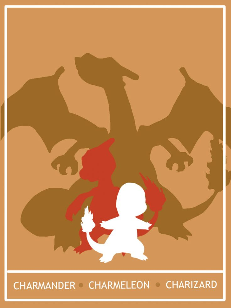 Pokemon Charmander - Charizard Minimalist Poster by Mr-Saxon.deviantart.com on @deviantART