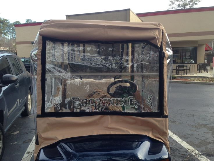 Drivable golf cart covers should not cover your windshield - it causes too much glare and interferes with vision and being able to drive safely.