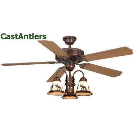 Medallion Rustic Lodge Ceiling Fan w/ Bear, Deer, Moose or Pine Tree Light Kit