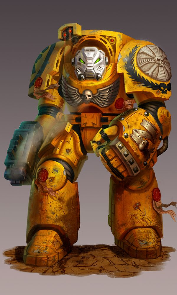 Sci fi digitalart paintings scifi terminator warhammer 40 000 relic expansion by - Imperial fists 40k ...