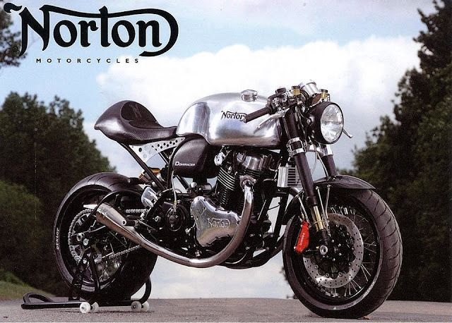 Norton Domiracer...powered by the current 961cc Norton Commando Engine, with custom tubular steel frame.