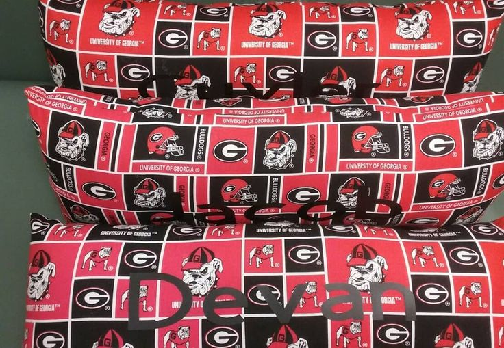 Georgia Bulldogs, Georgia, Georgia Bulldogs Monogram, Handmade Georgia bulldogs Pillow, Georgia Bulldogs Throw by SoftPassionsDesigns on Etsy