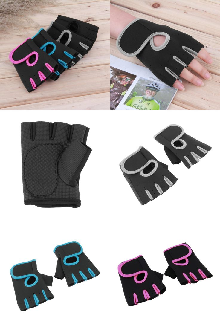 [Visit to Buy] Men & Women Sports Gym Glove for Fitness Training Exercise Body Building Workout Weight Lifting Gloves Half Finger new brand #Advertisement