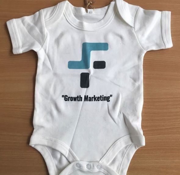 A delivery has just arrived! One of our clients has had a new baba so we thought we'd treat them to a personalised baby grow 👶👶