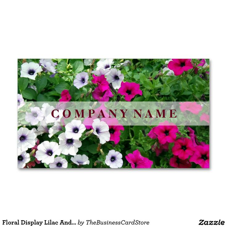 Floral Display Lilac And Purple Double-Sided Standard Business Cards (Pack Of 100)