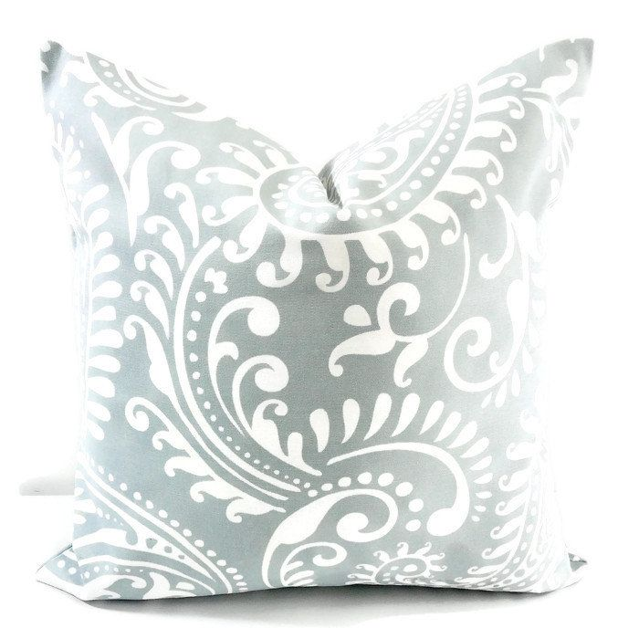 Spa Blue White Pillow Cover Walker Print Pillow Cover Sham Throw Pillow Cover Cotton Sham Pillow Case Select Your Size With Images White Pillow Covers White Pillow Cases