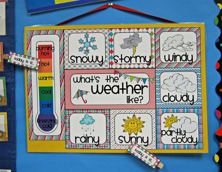 kinder weather chart | KinderKids Fun: Updating My Calendar Board