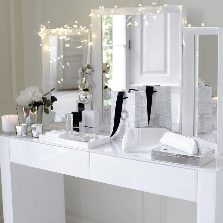 carlton glass dressing table white furniture the white company the white company. Black Bedroom Furniture Sets. Home Design Ideas