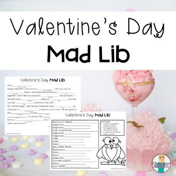 Bring the holiday spirit into your language lesson. This Valentines Day activity incorporates the usage of Nouns, Adjectives, and Verbs. Students come up with Nouns, Adjectives, and Verbs to complete a letter to their best friend, BUT they do not know what the letter is about!