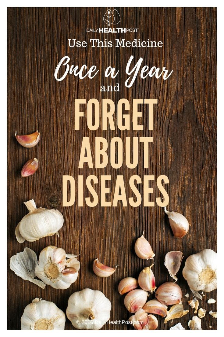 Use This Medicine Once a Year and Forget About Diseases via @dailyhealthpost