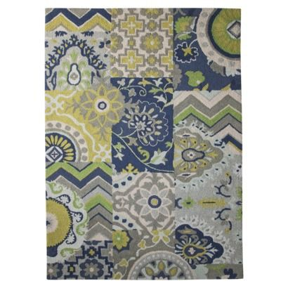 Target Area Rug Patchwork Blue And Green