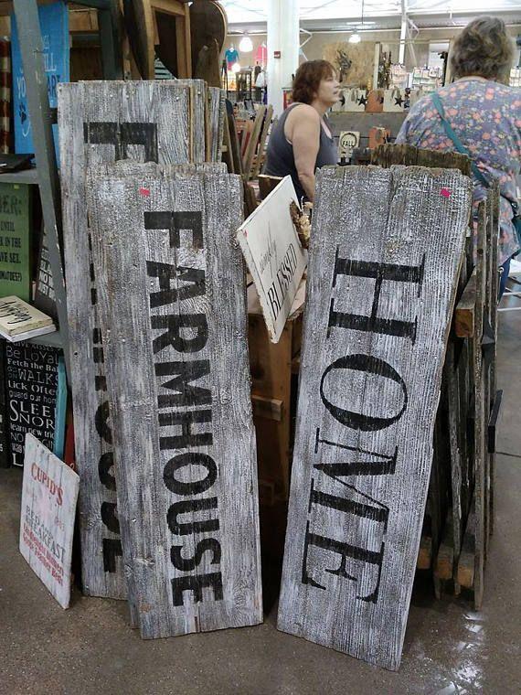 Rustic Barn Wood Barn Door Home and Farmhouse Signs