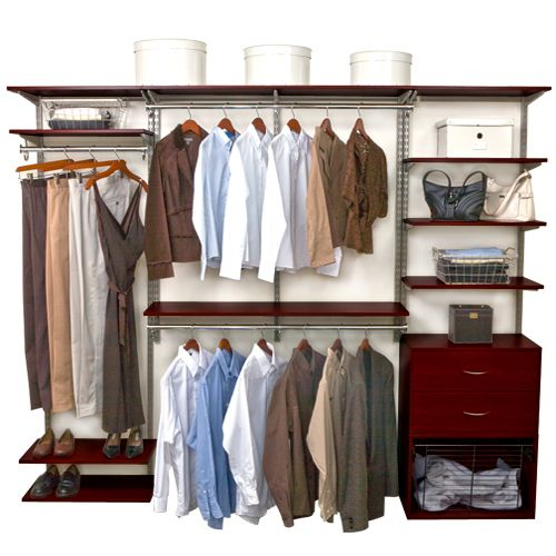 Neatly Organize Your Walk In Closet Or Wardrobe Any Way You Want With The  Versatile Chocolate · Closet Shelving SystemsCloset SystemCloset ...