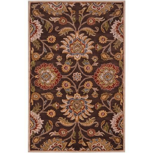 Caesar CAE-1012 Brown Damask Rug  #rugs #decor #floorcoverings #decorating #carpet #homeideas #floordecor #dreamhome #homeaccents #classy