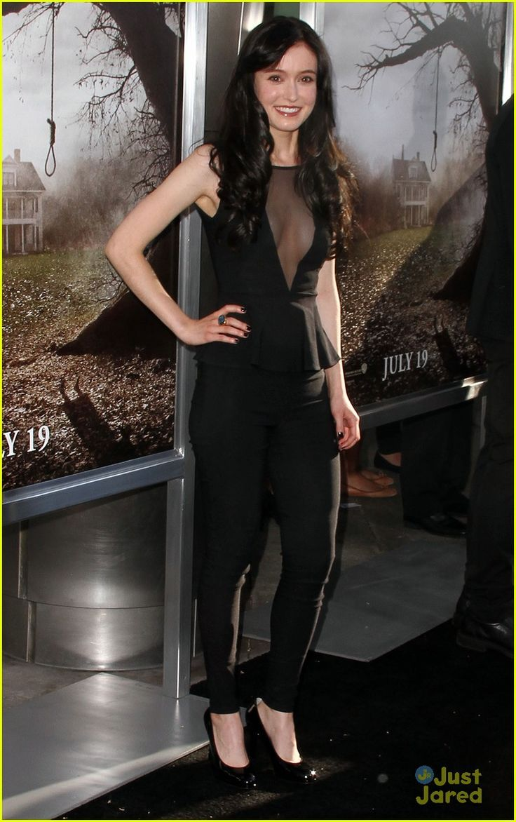 Hayley McFarland on the black carpet for the premiere of The Conjuring held at Arclight Cinemas in Hollywood on Monday night (July 16).