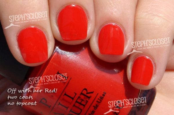 OPI Off With Her Red Nail Polish