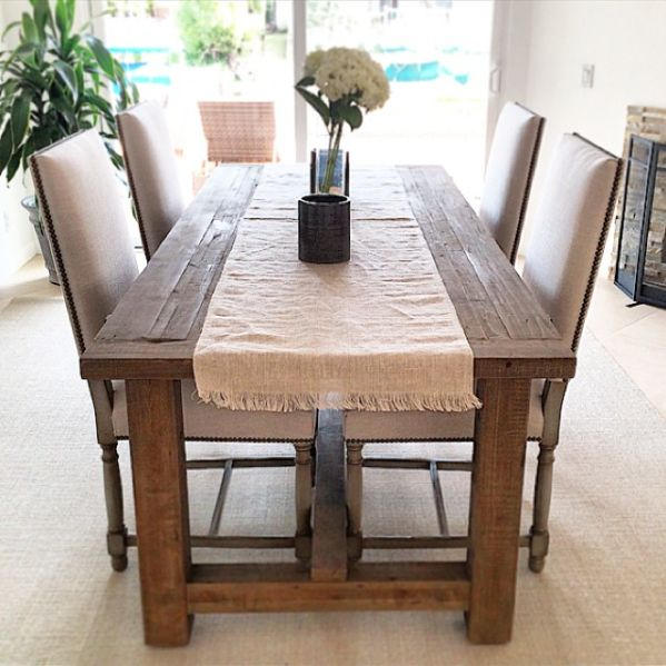 Reclaimed Wood dining room table #restorationhardware