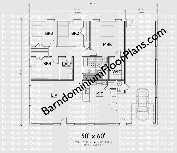 120 best house plans images on pinterest for Barndominium floor plans with garage