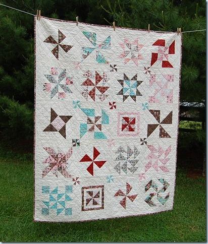 pinwheel sampler quilt:
