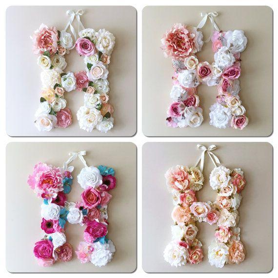 Flower Letters Flower numbers First birthday 1sr by PaulettaStore