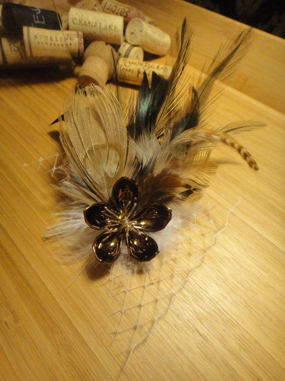 Sakura & Feathers Hairclip ~ $28