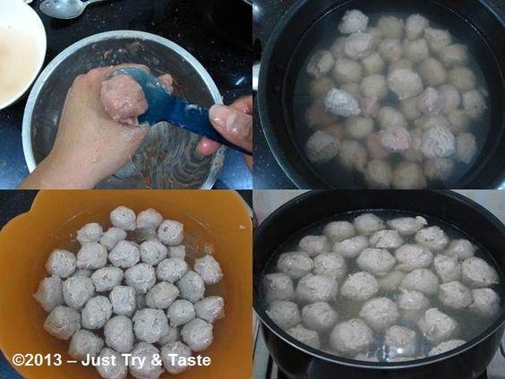 Just Try & Taste: Homemade Bakso Daging Sapi: Percayalah, kali ini mental!