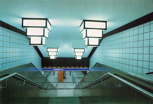 West Berlin. Tempelhof U-Bahn