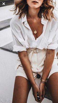 🖤 La chemise blanche : Conseils & idées de ten…