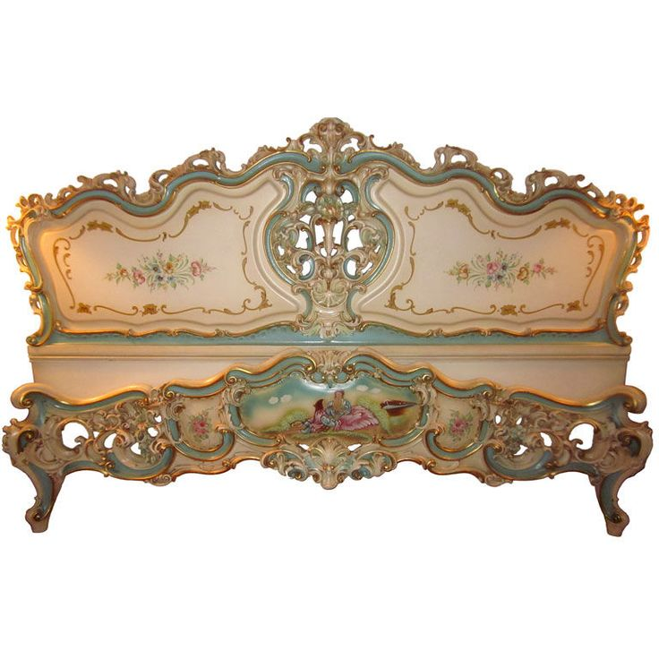 Vintage Italian Venetian Bed   From a unique collection of antique and modern beds at http://www.1stdibs.com/furniture/more-furniture-collectibles/beds/ Eye Candy For The Boudoir