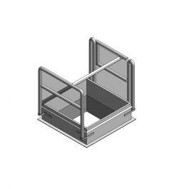 Roof access hatch Revit family
