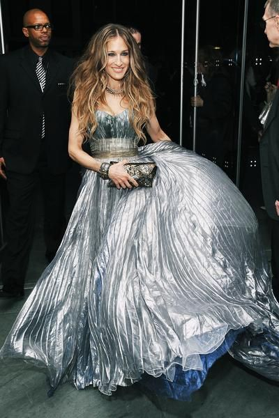 Celeb: Sarah Jessica Parker, May 27, 2008, at the Sex and the City: The Movie premiere in NYC wearing Nina Ricci.