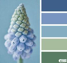 Harmonie fleur bleu I Design I Couleur I Inspiration I Camaïeu I Peinture I