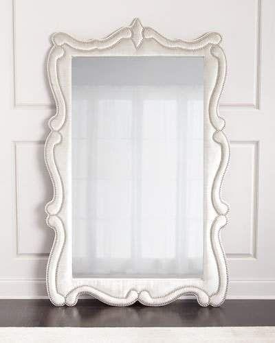 Haute House Silver Antoinette White Full Length Mirror #homeimprovement #floormirror #bedroomdecor