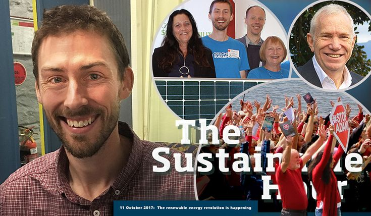 The renewable energy revolution is happening  Guest in The Sustainable Studio on 11 October 2017 is Dan Cowdell from Geelong Sustainability. He is the project coordinator of Geelong's first investor-financed community energy project. We also talk with Tom Hunt who is member of Citizens' Climate Lobby, a non-profit advocacy organisation focused on national policies to address climate change. And we play excerpts of speeches held by Christine Couzens and Vicki Perrett