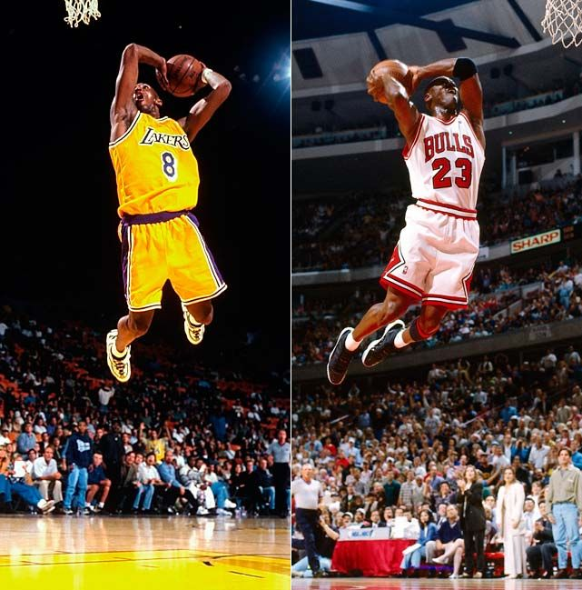 Kobe and michael  | slam dunk.