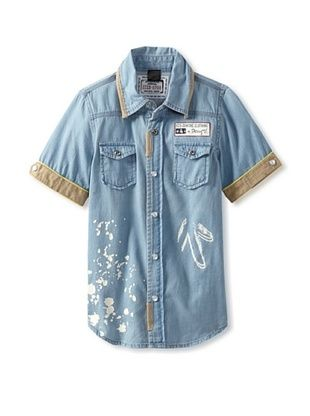 69% OFF Desigual Boy's Denim Shirt (Celeste)