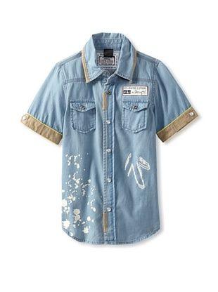 69% OFF Desigual Boy's Denim Shirt (Celeste)