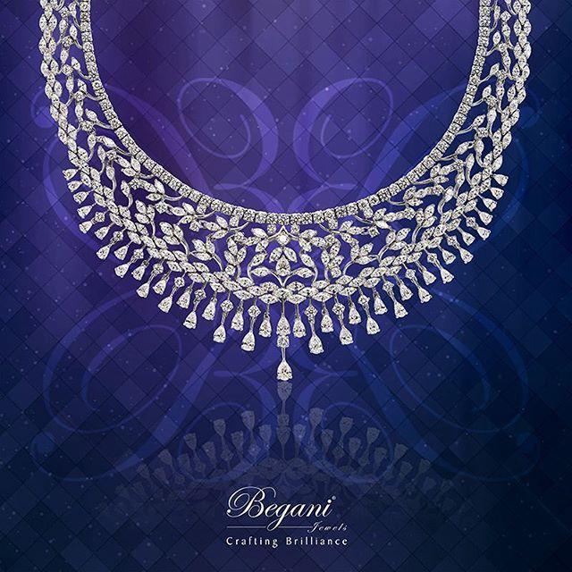 """Radiate panache in intricately designed diamond necklace"" #diamondnecklace #luxuryjewelry #finejewelry #diamondjewelry #begani_jewels #beautiful #expensivenecklace #elegantjewelry"