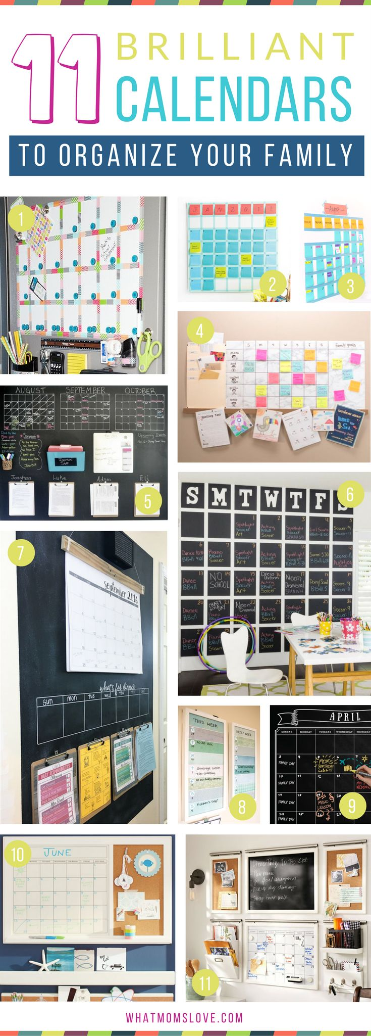 How to create a family wall calendar to organize your life | DIY Calendars and Command Center ideas perfect for summertime or back to school. Plus more tips, hacks and tricks to survive summer with your kids