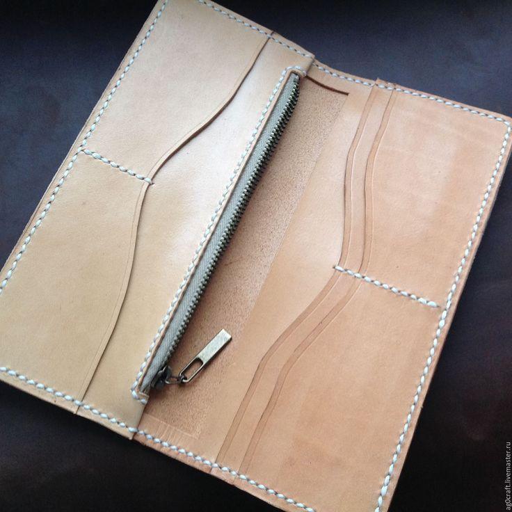 Купить Длинный кожаный кошелек - Кожаный женский кошелек - Зеленый кошелек…