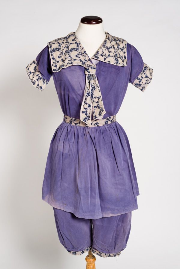Swimming costume, c. 1910.  Walsall Museums.