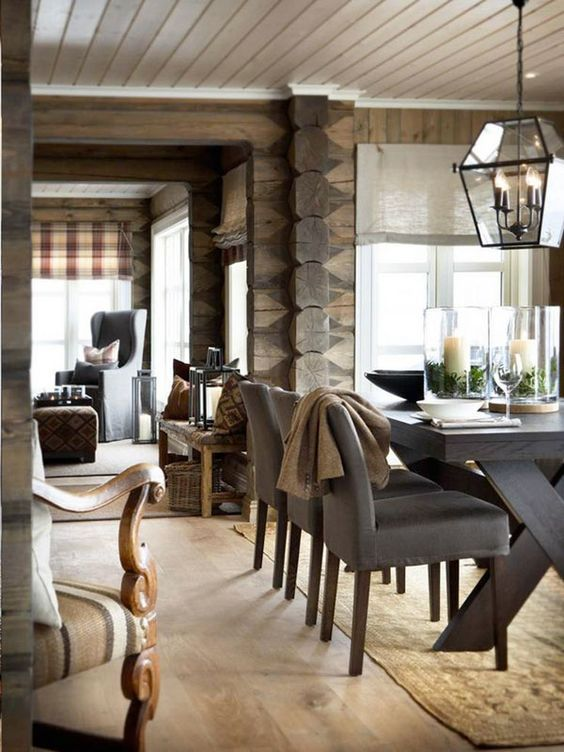 DINING TABLE :: Gorgeous hurricanes & amazing chandelier. Design by Slettvoll.: