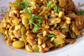 Ghevda Matki Recipe | How to make French Beans Matki in Marathi |  घेवडा आणि मटकीची भाजी  | Nilam's Recipes