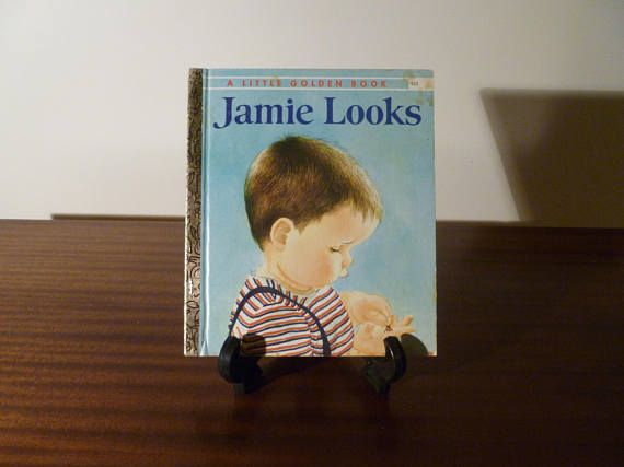 "$8    Vintage 1973 Book ""Jamie Looks"" - A little Golden Book / Kids Book / Great Condition / A Book About Learning"