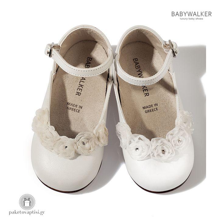 Παπουτσάκια για Κορίτσια με Chiffon Λουλουδάκια Babywalker ΒW4526