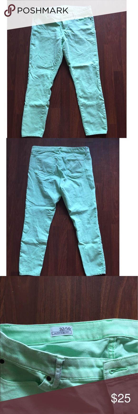 Gap - Always Skinny Mint Green Jeans Gently worn! Lovely mint color. Always Skinny fit. GAP Jeans Skinny