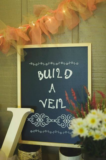 Build a Veil {Bridal Shower Fun}