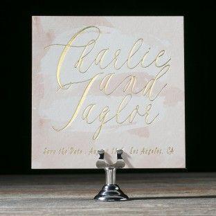 brushstroke wedding invitations by chelsea petaja feature pastel watercolors andu2026 wedding place