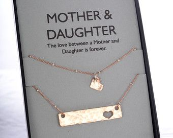 Mom Daughter necklace set Mother of the Bride by erinpelicano