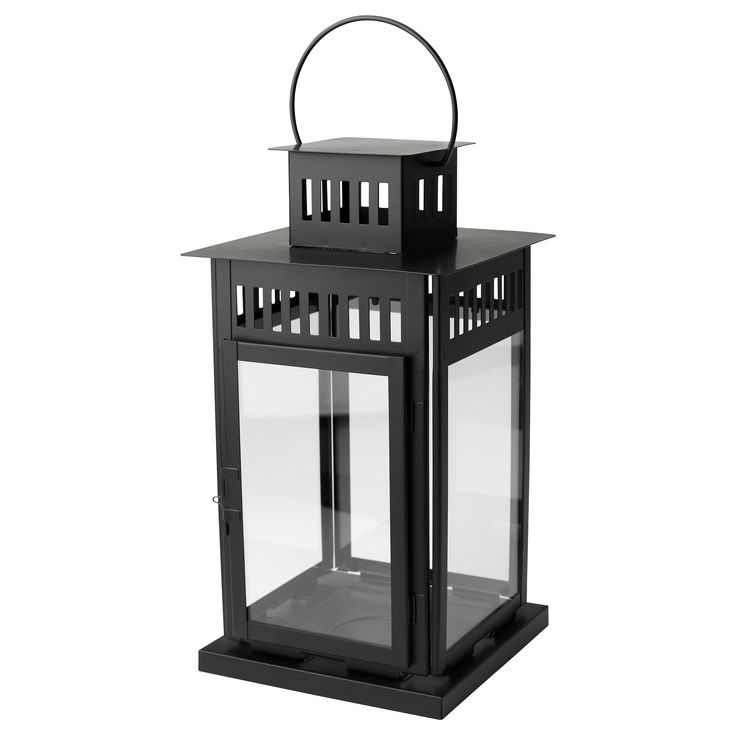 cheap borrby lantern for block candle black black with tableau verre ikea. Black Bedroom Furniture Sets. Home Design Ideas